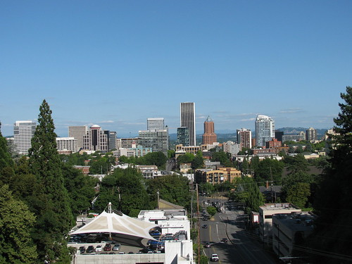 downtown Portland (taken from a viaduct near Washington Park)