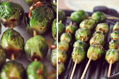 Grilled Brussel Sprouts [Explored] (veronikaa) Tags: grilled brussel sprouts green vegetables cooking food healthy vegan vegetarian recipe ideas side dish skewers grill eat cocina cocinar parrilla vegetales vegetariano comida light simple diptych photo photography nikon d5000 repollo repollitos de bruselas col coles explored explore