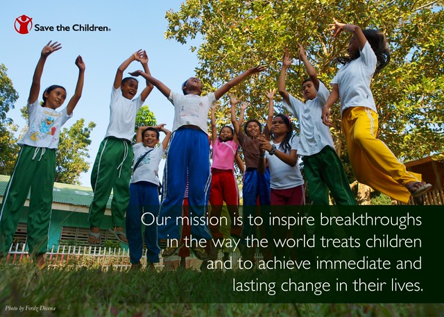 Save the Children Mission Postcard
