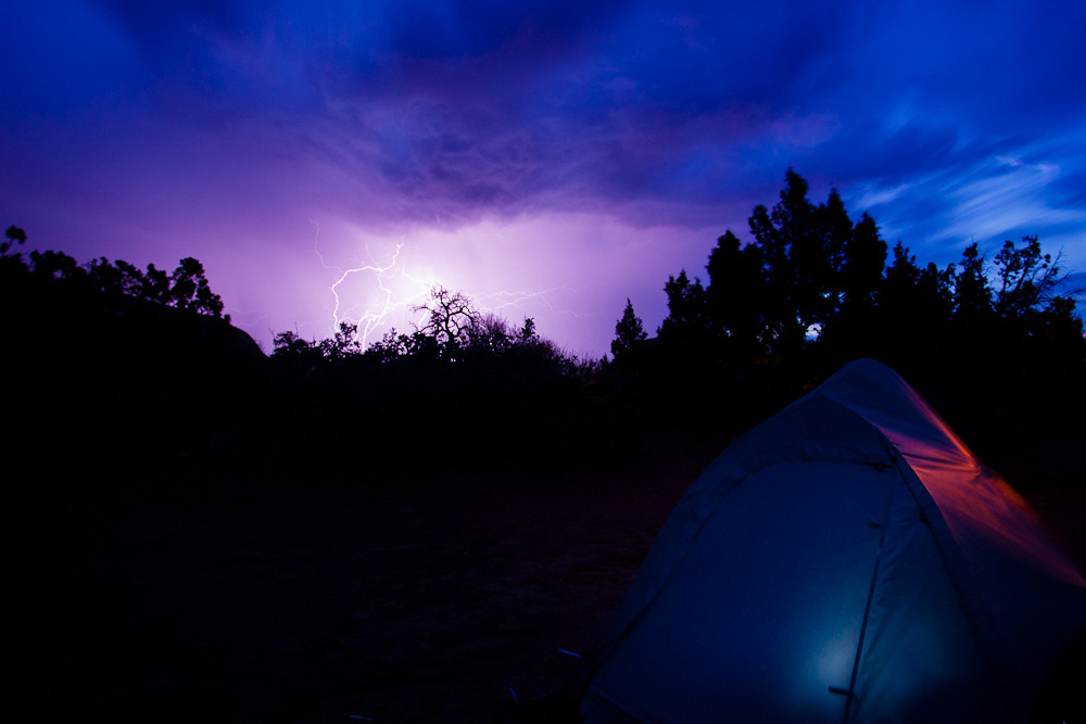 storm over Devil's Garden campground
