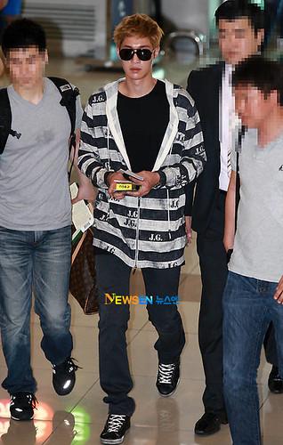 Kim Hyun Joong at Gimpo Airport [110728]