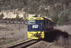 8107 Kerrabee (Bingley Hall) Tags: train diesel railway australia transportation nsw newsouthwales locomotive coal freight ulan 81 8107 kerrabee rpaunsw81class rpaunsw81class8107 railpage:class=47 railpage:livery=18 railpage:loco=8107