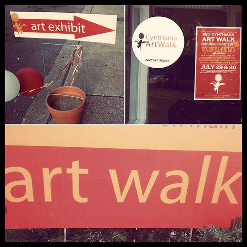 A few pics from outside my Art Walk display.
