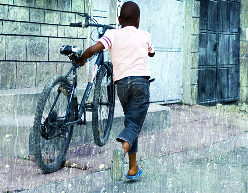 boy and bicycle