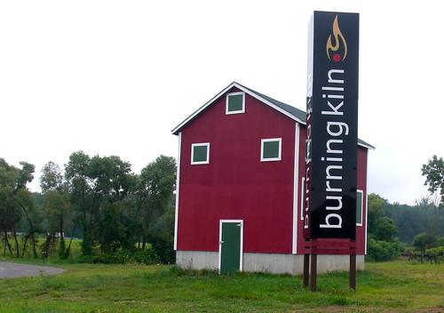 burning kiln sign