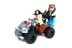 Apoc-ATV With Passengers (Cam M.) Tags: cool gun lego awesome atv minifigs epic apocalego