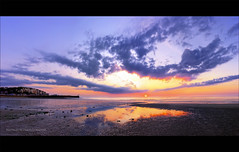 Panorama sunset (Nicolas.M Photographie) Tags: sunset sky panorama cloud sun reflection nikon reflet ciel hdr photomatix