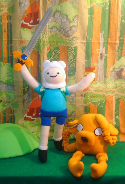 With Jake the Dog and Finn the Human