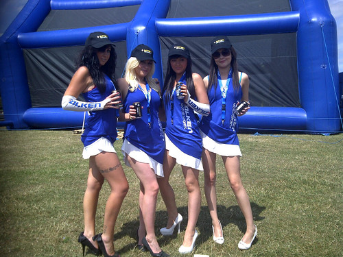 Falken girls energised with Battery Energy Drink by Energy Drinks Ltd