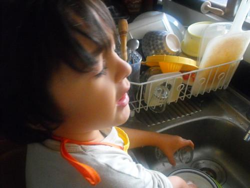 Lavando platos