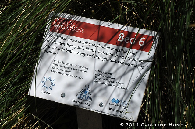 Interpretive signage at Soest Garden
