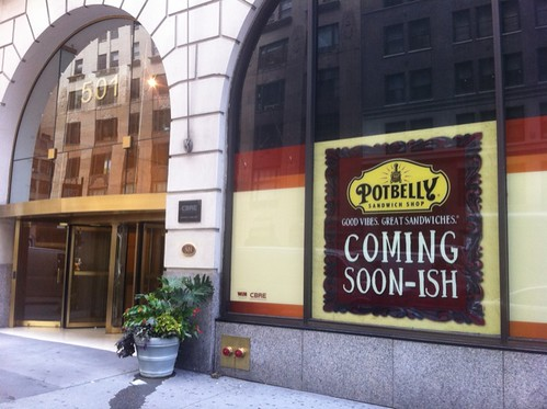 Potbelly bites into @fashioncenterny opening 'soonish' at 37 & 7. @midtownlunch