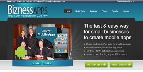 Bizness Apps Homepage