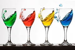 wateringlasses2 (TLRphotography) Tags: water beer glass bar drink booze splash pour liquid stil
