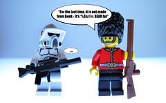 """...it's *%$@# Bear fur"" (felt_tip_felon) Tags: london toy starwars model lego guard ewok bearskin minifigure"
