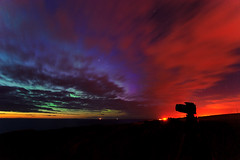 Summer Aurora 05/08/2011, Moray, Scotland (Kenny Muir) Tags: uk seascape lights scotland dancers cloudy scottish aurora merry northern moray findochty borealis portknockie aurorawatch