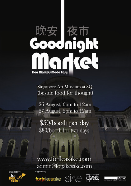 Goodnight flea market poster