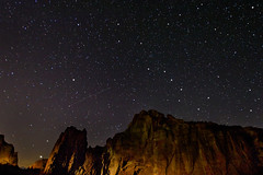 Starry Night at Smith Rock State Park (David Gn Photography) Tags: sky night oregon stars landscape raw patterns central ursamajor plough constellation celestial shootings