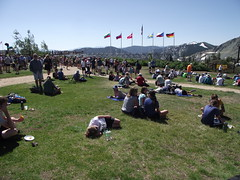 after race party (rundixie) Tags: usa mountain america tahoe running run squawvalley runners olympics mountainrun 2000ft