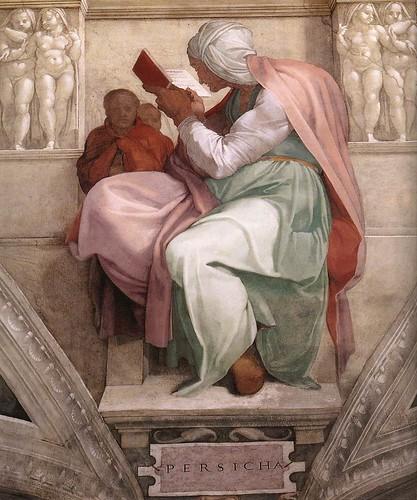 008-Sibila de Persia pintada por Miguel Angel en la Capilla Sixtina
