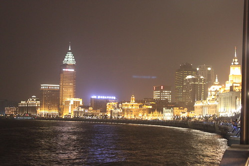 Nightlife of Shanghai Bund China