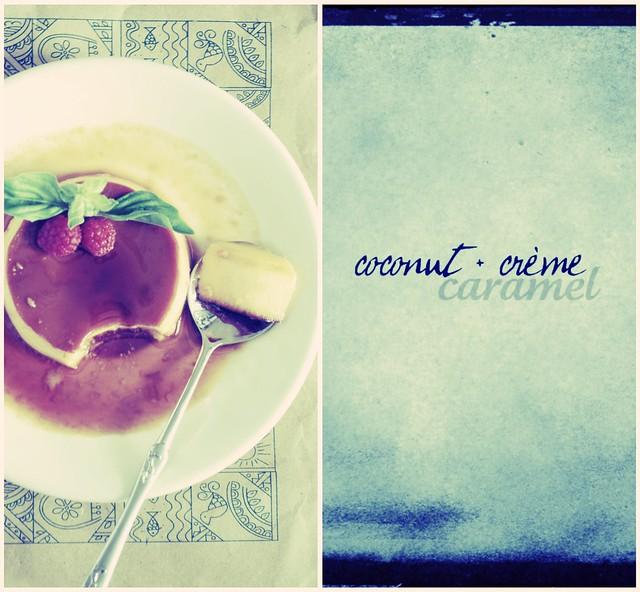 coconut + crème caramel