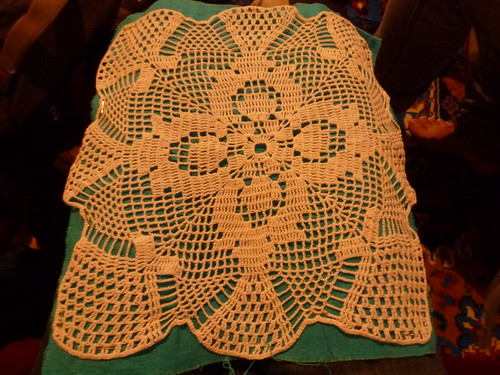 Gjemilja in Gracanica made this example of tentene, a type of crocheting popular among Roma women and others in Kosovo.