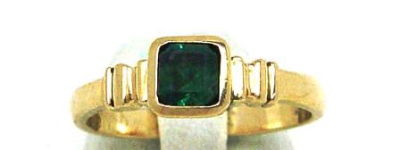 .Emerald Gold Dress Ring