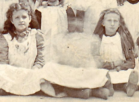Victorian schoolgirls (enlarged detail)
