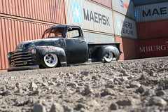 Chevrolet 1950 Pickup Truck (Drontfarmaren) Tags: classic chevrolet truck ride air low pickup chevy frame bags 1950 patina slammed laying bagged
