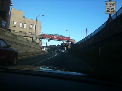 Saliendo del Holland Tunnel y entrando en New Jersey