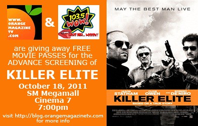 Killer Elite Advanced Screening Tickets from Orange Magazine TV and WOW FM