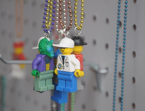 Lego man necklaces