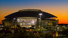 Dallas Cowboys Stadium as seen from Rangers Stadium (TxSportsPix) Tags: arlington texas baseball tampabay playoffs rays rangers alds 70200lf28 canon7d txsportspix