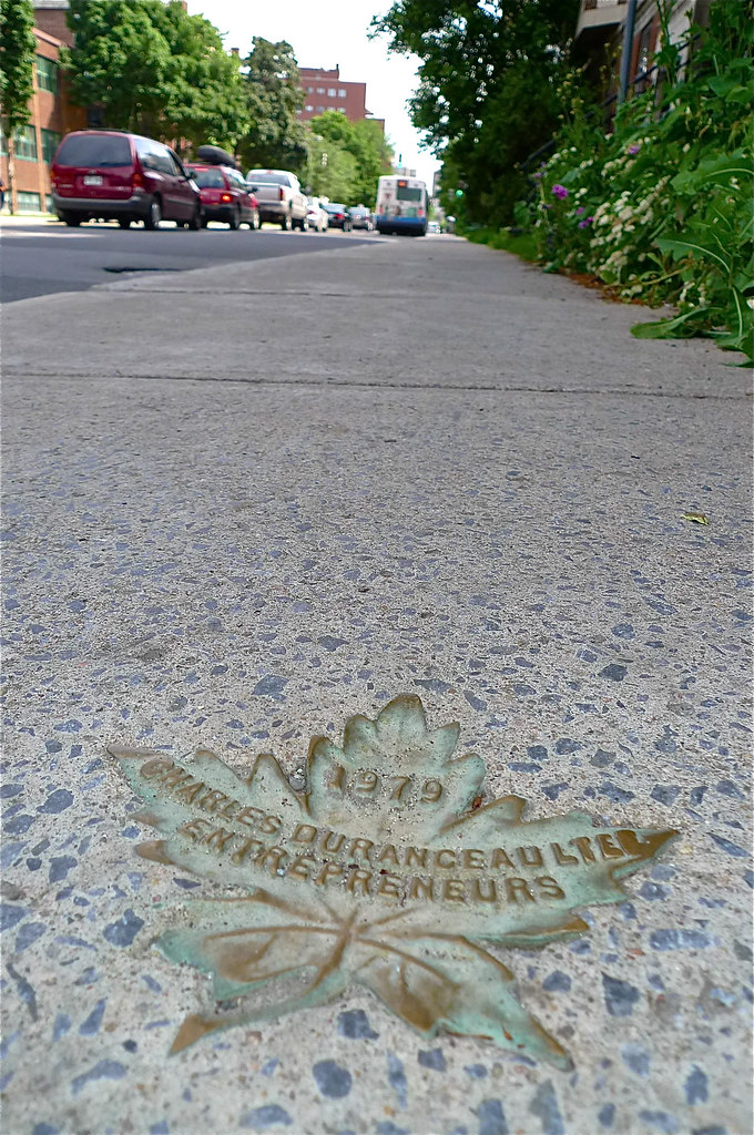 Copyright Photo: Charles Duranceau Montreal Sidewalk Maple Leafs by Montreal Photo Daily, on Flickr
