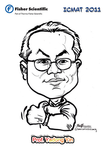 Caricature for Fisher Scientific - Prof. Yadong Yin