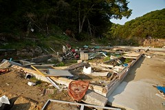House Foundation Nobiru Japan Earthquake Tsunami Disaster 2011 Miyagi Sendai (Carsten Knoche) Tags: city house car japan march scary earthquake sad flood neighborhood tsunami disaster terrible sendai tragic crush miyagi 3rd disturb 2011 nobiru