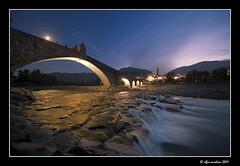 Il Gobbo sotto la luna, (Alfio Ansaloni) Tags: fiume luna ponte notturno bobbio orablu abigfave anawesomeshot pontegobbo nikonflickraward pontedegliinnamorati