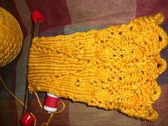 L sock flat heel