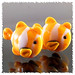 Clownfish-Goldfish earring