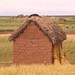 Casas de adôbe a beira do Titicaca