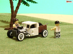 Where the ocean? (NPU contest entry) (ZetoVince) Tags: old hot ford car truck greek rat lego vince hotrod vehicle rod minifig ratrod npu zeto zetovince dreamdealer