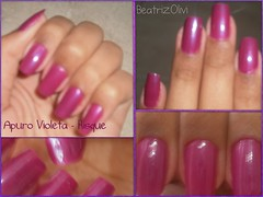 Apuro Violeta - Risquè (Beatrice Things) Tags: purple nail polish unhas violeta risque roxo esmalte apuro