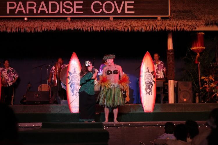 Guy in Coconut Bra Paradise Cove Luau copy