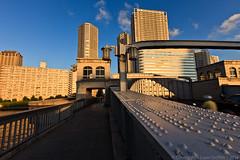 Kachidokibashi Tokyo Japan (liam_griffith) Tags: bridge blue sunset sky japan buildings landscape tokyo photo 1635mm kachidokibashi canon5dmkii