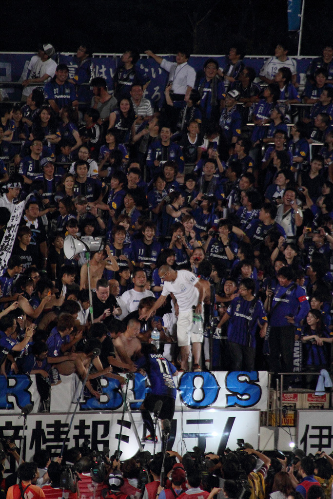 a scene of the farewell celemony, Takashi Usami from Gamba Osaka to FC Bayern München (3)