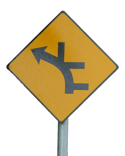 Many junctions ahead road sign