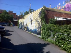 Des graffitis dans les rues de Monréal