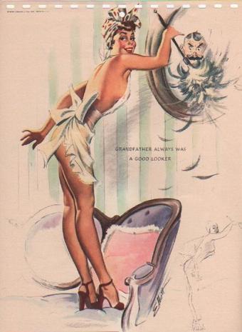 1951 Dusting Girl