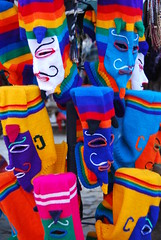 Funny hats in Peru! (Marjan de B) Tags: travel vacation peru latinamerica southamerica face hat june inca knitting funny traditional andes 2011 deblaauwpix